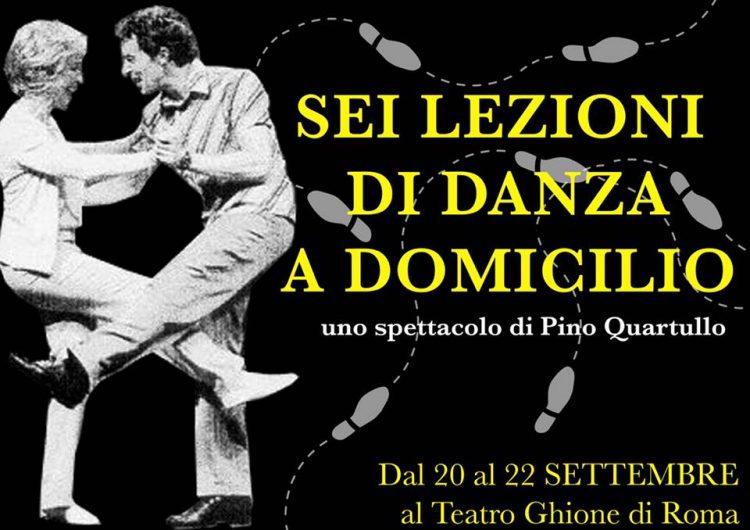 Pino Quartullo in scena al Teatro Ghione di Roma
