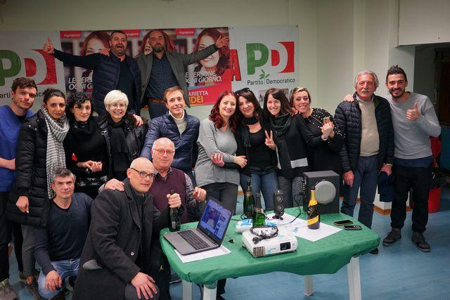 In mille festeggiano l'elezione di Marietta Tidei