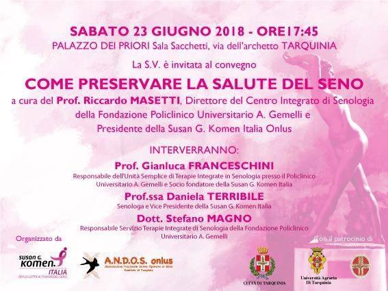 Tarquinia, stasera in piazza cena in rosa
