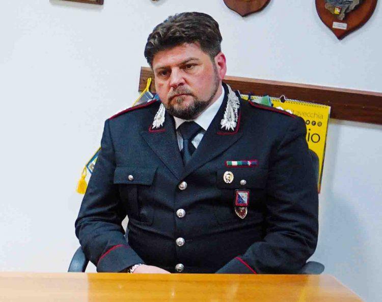 Il tenente dei Carabinieri Roberto Lacatena lascia la compagnia di Civitavecchia