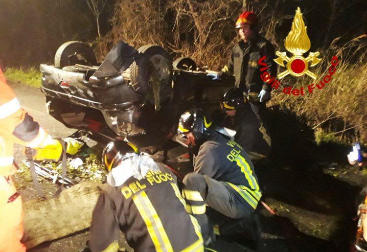 Due gravi incidenti sulla Settevene Palo