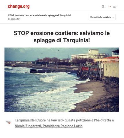 Una petizione per difendere le spiagge di Tarquinia