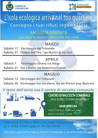 Isole ecologiche, sabato appuntamento a San Liborio