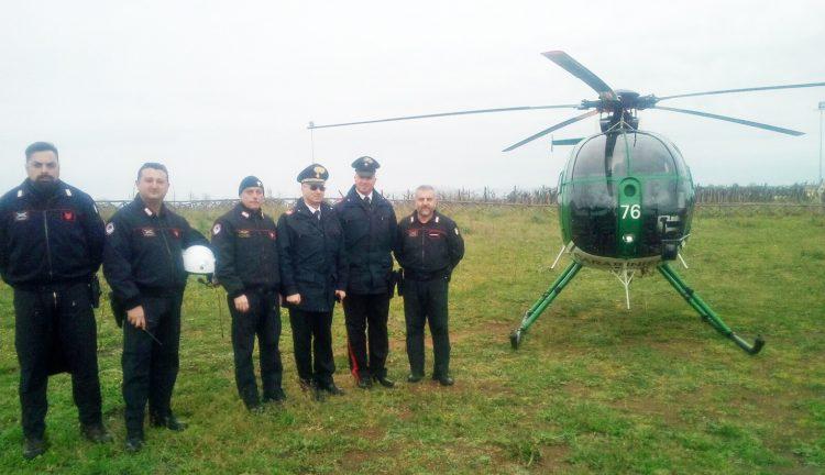 Pattugliamento aereo dei Carabinieri
