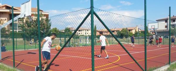 Taglio del nastro ai campi sportivi di Paolo Borsellino
