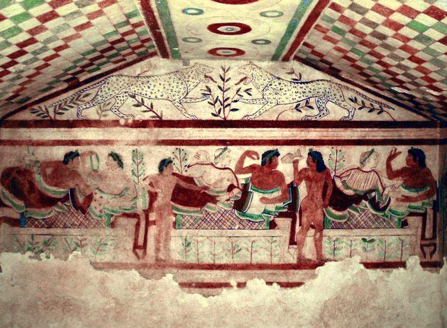 """Tecnologie avanzate per la grande pittura etrusca"""