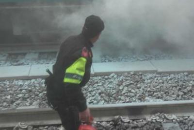 Roma, treno prende fuoco alla Stazione Termini