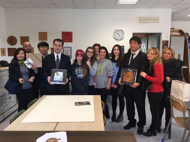 Ishinomaki: delegazione in visita alle scuole superiori