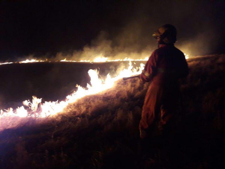 Vasto incendio nella notte alla Farnesiana
