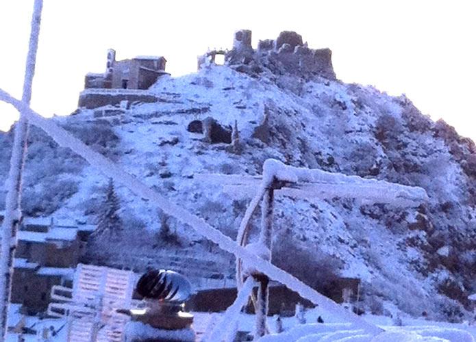 Neve in collina: gran lavoro per la Protezione civile