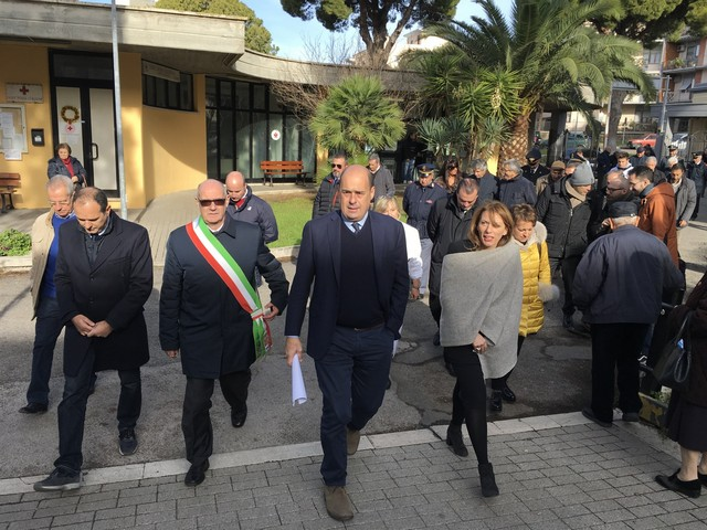 Il presidente Nicola Zingaretti in visita all'ospedale di Tarquinia