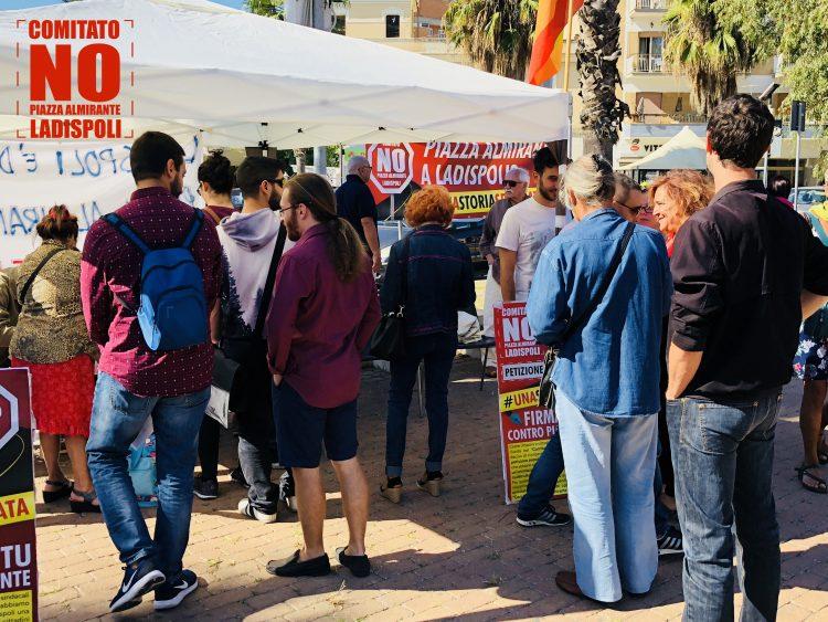 Torna in piazza il Comitato No a Piazza Almirante a Ladispoli