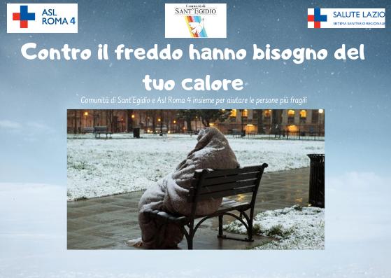 Emergenza freddo, Asl Roma 4 e Comunità di Sant'Egidio insieme per gli invisibili