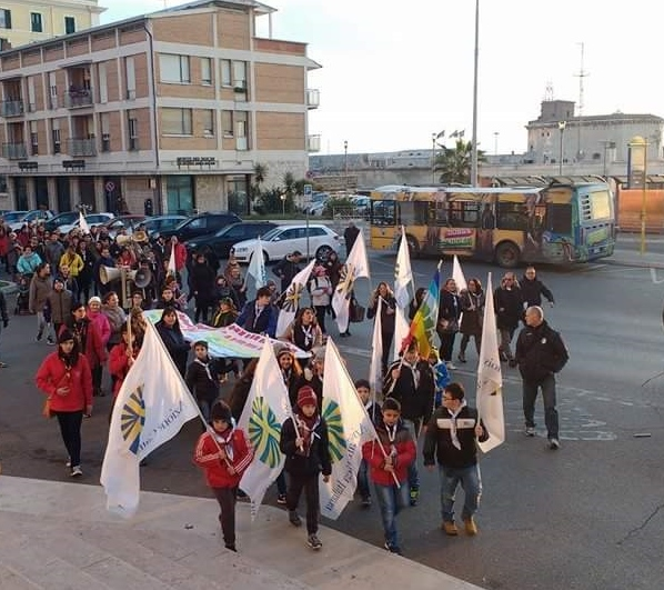 Tanti giovani alla marcia della pace