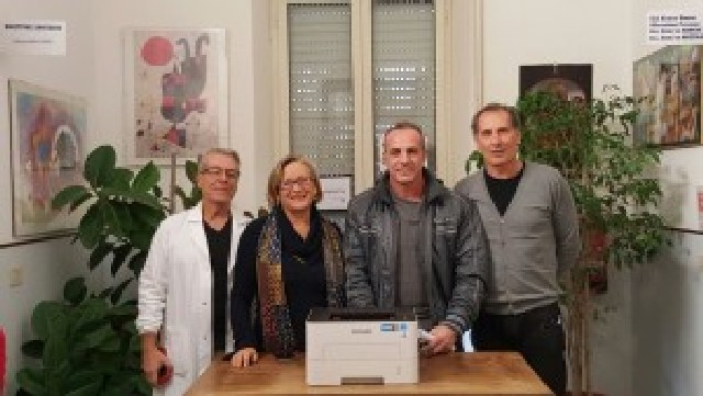 Spazio libero dona cinque stampanti all'ospedale di Tarquinia