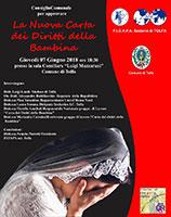 Unicef, il Comune di Tolfa sottoscrive la Carta dei Diritti