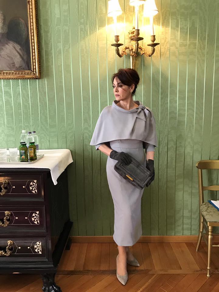 Elena Sofia Ricci veste Ciambella al Quirinale