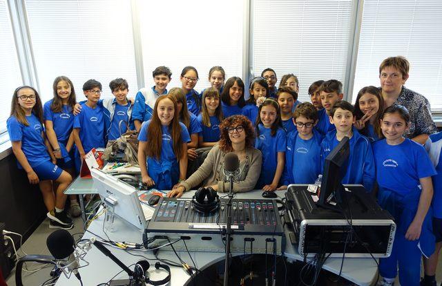 Euforia in redazione con gli alunni del Santa Sofia
