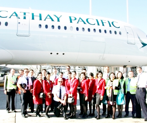 Arriva l'A350-900 di Cathay Pacific