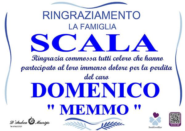 DOMENICO SCALA ''MEMMO'' – Ringraziamento