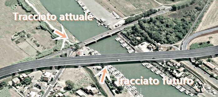 Ponte della Scafa, firma vicina