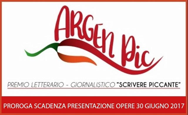 Premio Argenpic scrivere piccante, prorogata  al 30 giugno la scadenza per la presentazione delle opere