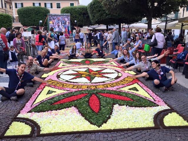 Tarquinia, gli scout infioratori d'eccellenza a Pietra Ligure