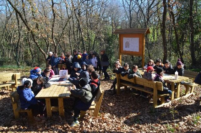 Valcanneto: inaugurata l'Aula Verde: uno spazio tra la scuola e il bosco