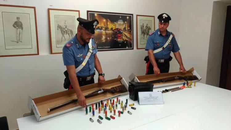 Colpo dei carabinieri: sequestrate armi a Civitavecchia