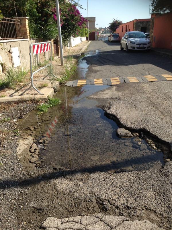 Voragine a Borgo Odescalchi: cittadini preoccupati