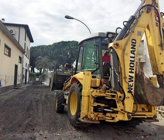 Montalto, iniziati i lavori di sistemazione di via Etrusca