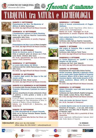 "Al via ""Incontri d'Autunno. Tarquinia tra natura e archeologia"""
