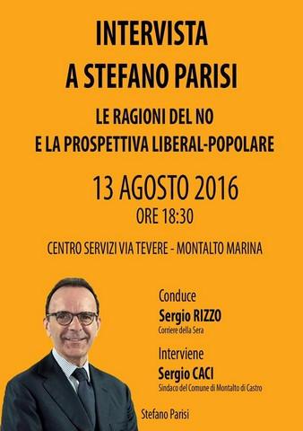 """""""Le ragioni del no e la prospettiva liberal popolare"""": incontro con Stefano Parisi"""