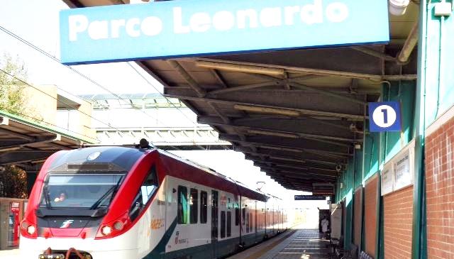 Parco Leonardo, stazione vandalizzata