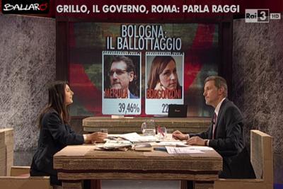 """Raggi gela Giannini in diretta: """"Si sente un replicante?"""""""