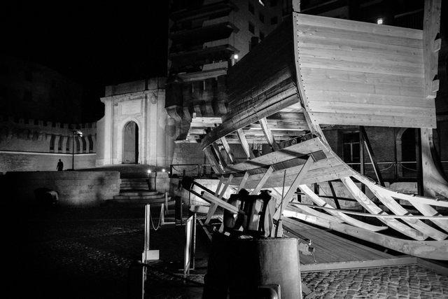La barca nel porto (foto Raffaele Ballirano)