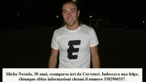 Unità cinofile in azione per ricercare lo scomparso Mirko Nestola