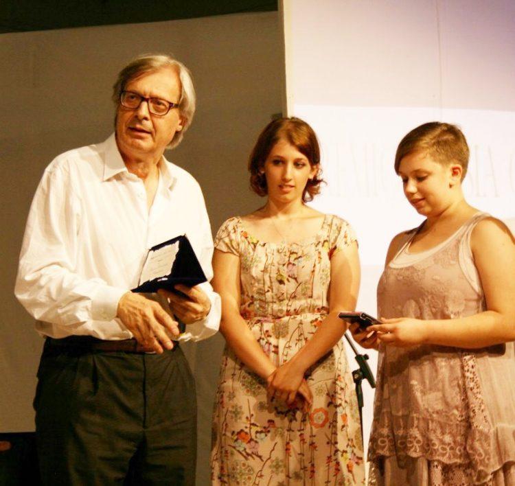 Vittorio Sgarbi al ''Premio poesia''
