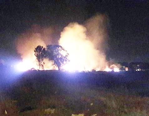 Notte di fuoco all'Isola Sacra