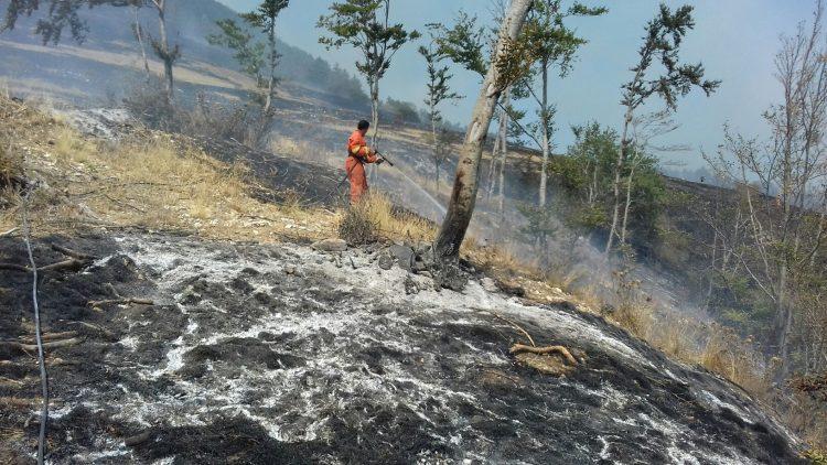 Rientrati i volontari del Coordinamento Aeopc Italia impegnati negli incendi su Amatrice ed Accumoli