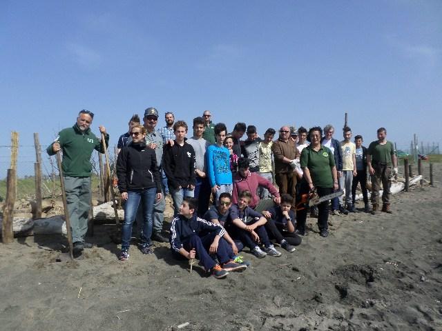 Cardarelli, un cantiere di ingegneria naturalistica sulle dune delle Saline