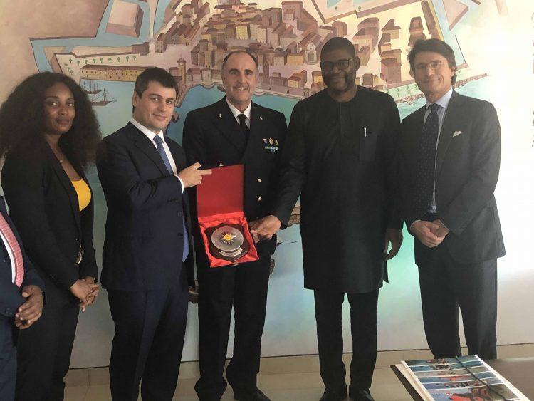 Il Ministro degli Esteri della Liberia in visita a Civitavecchia