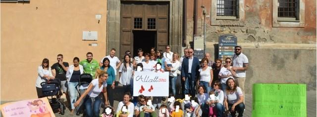 Tarquinia, anche il sindaco Mazzola al girotondo del movimento Allattamento materno italiano