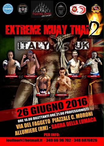 Ad Allumiere arriva Extreme Muay Thai