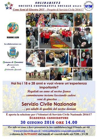 Cerveteri, Servizio Civile Nazionale: un anno di lavoro nei progetti di inclusione sociale del territorio