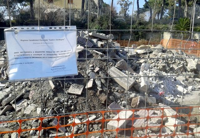 Santa Marinella, sequestrato un deposito di materiali edili