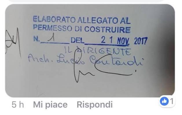 """""""Prima concessione edilizia dell'anno concessa a fine novembre"""""""