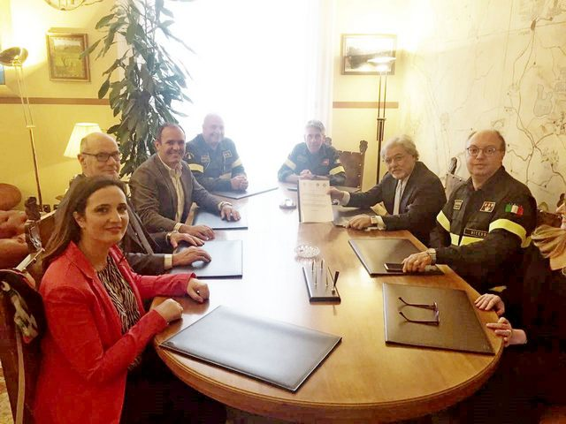 Firmata la convenzione per i presidi acquatici dei Vigili del fuoco