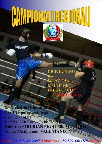 Sul ring il campione italiano Crescentini