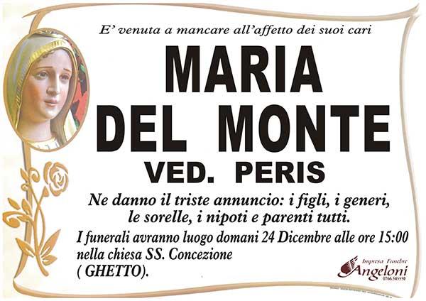 MARIA DEL MONTE Ved. PERIS
